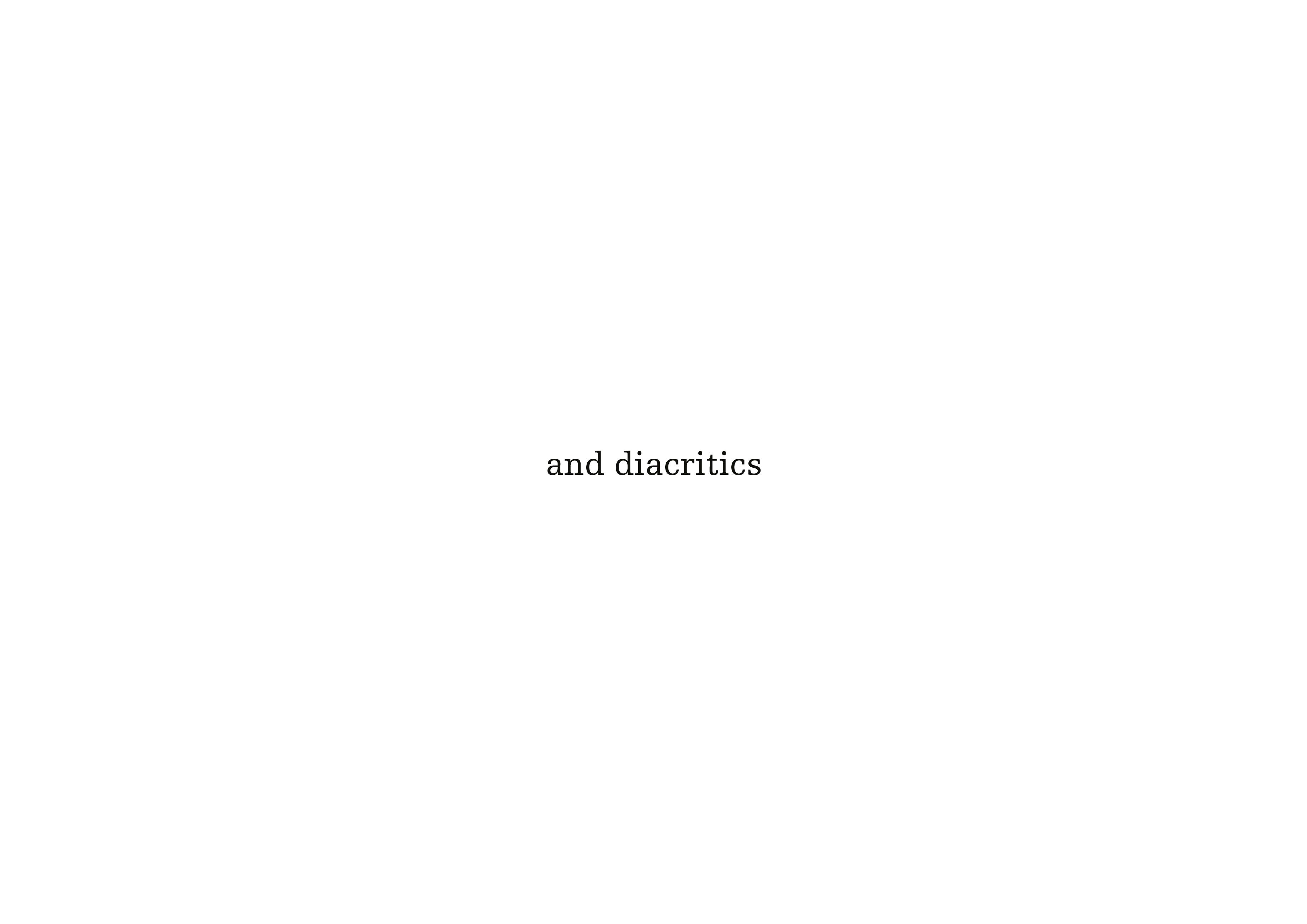 and diacritics